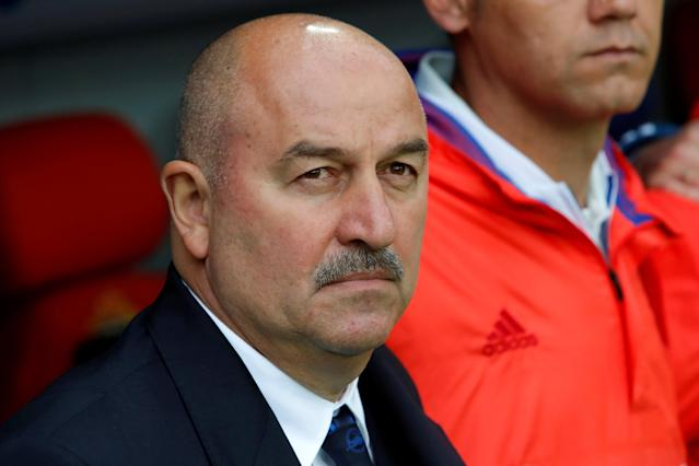Soccer Football - International Friendly - Russia vs Turkey - VEB Arena, Moscow, Russia - June 5, 2018 Russia coach Stanislav Cherchesov before the match REUTERS/Sergei Karpukhin