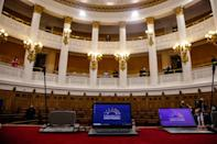 The interior of Chile's former National Congress building, where the Constitutional Convention met