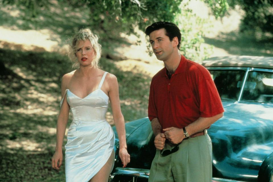 Kim Basinger and Alec Baldwin became a real-life couple during the troubled 1991 romantic comedy, 'The Marrying Man.' (Buena Vista/courtesy Everett Collection)