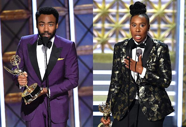 Donald Glover and Lena Waithe (Photo: Getty Images)