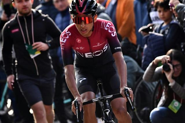 Egan Bernal, pictured in October, is the first and only Latin American to have won the Tour de France, cycling's most prestigious race (AFP Photo/MARCO BERTORELLO)