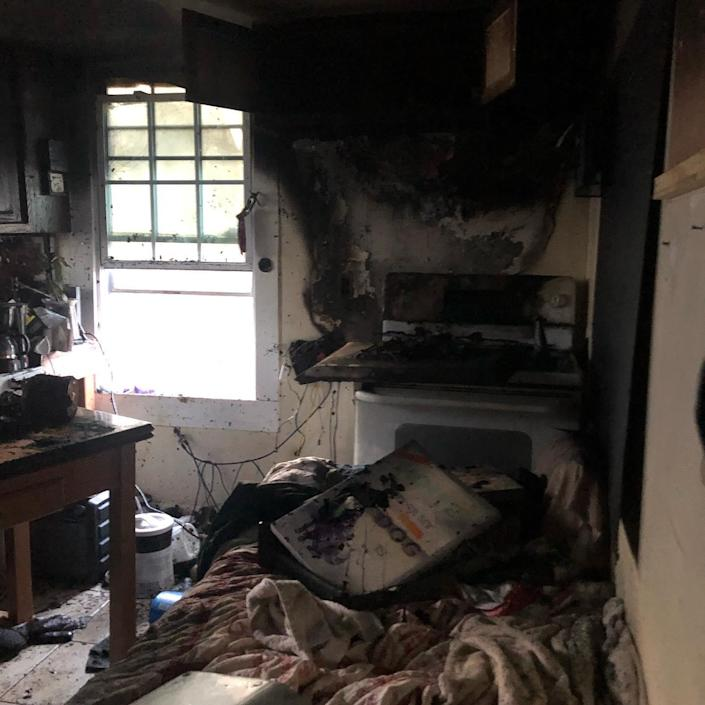 The fire damage at W-Underdogs. (W-underdogs)