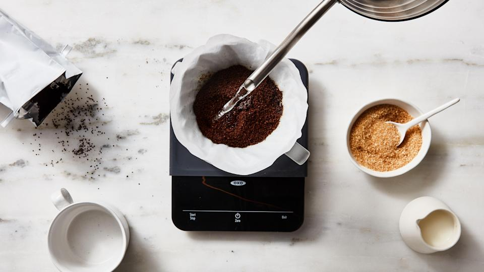 The OXO Precision Scale is the best kitchen scale for coffee obsessives who want perfectly measured beans.