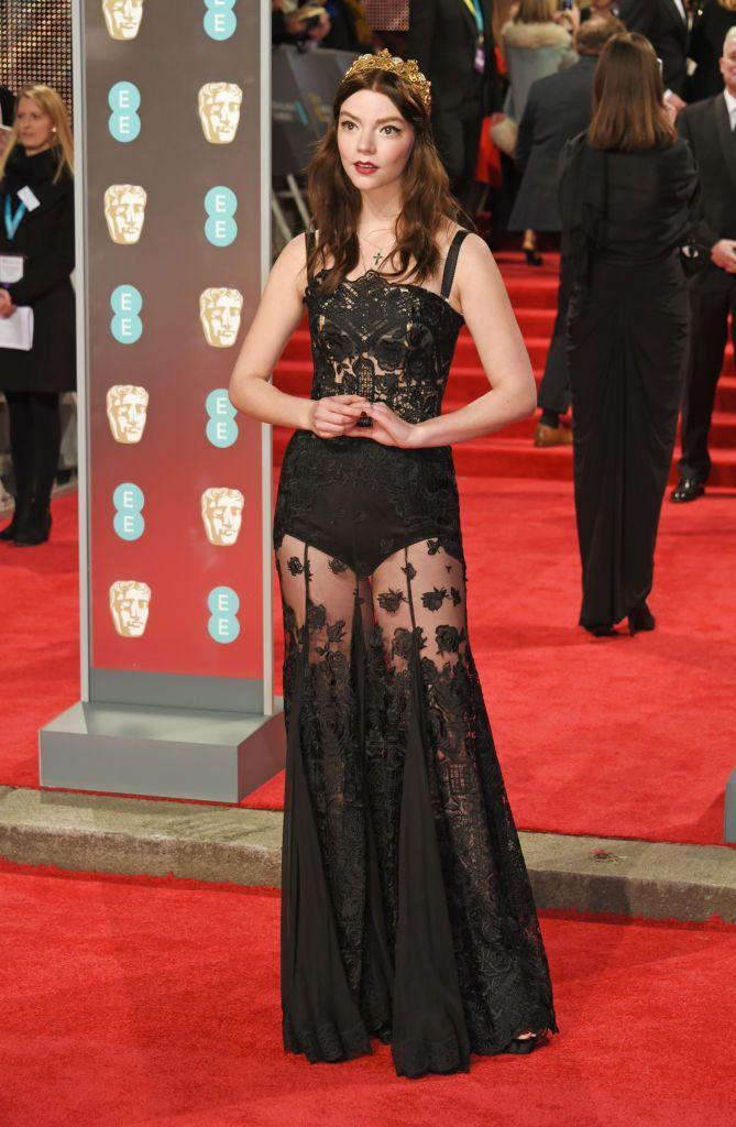 <p>Taylor-Joy donned a crown for the BAFTAs.</p>