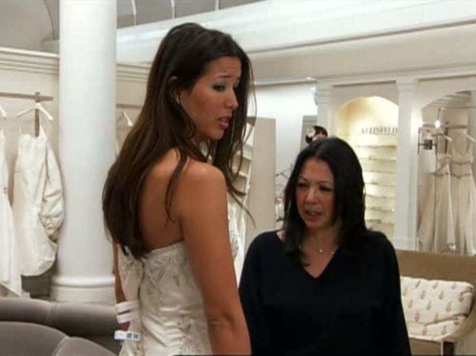 """<p>The TLC show will often flash to the overwhelmingly large and cluttered stockroom downstairs — and there are <a href=""""https://www.buzzfeed.com/terripous/21-things-you-never-knew-about-say-yes-to-the-dress"""" rel=""""nofollow noopener"""" target=""""_blank"""" data-ylk=""""slk:two more just like it"""" class=""""link rapid-noclick-resp"""">two more just like it</a> in the store. </p>"""