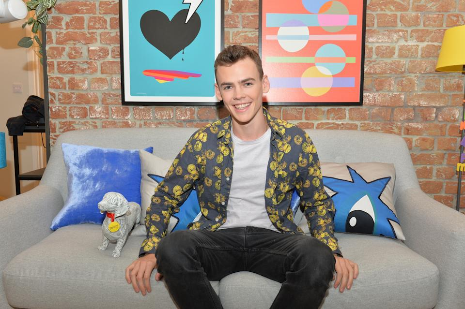 Woody Cook in his apartment at The Circle in Salford, Manchester, ahead of the live final of the second series of Channel 4's The Circle. 18-year-old Woody from Brighton is the son of Zoe Ball and Norman Cook, aka Fatboy Slim. (Photo by Peter Powell/PA Images via Getty Images)