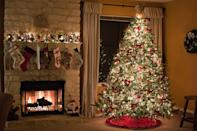 """<p>At the beginning of the night, have each guest guess the number of ornaments on the tree for a clever take on the candies-in-a-jar game. Record names and numbers on pieces of paper, and award the person with the closest guess a prize (a special ornament, perhaps?).</p><p><a class=""""link rapid-noclick-resp"""" href=""""https://www.amazon.com/s?url=search-alias%3Daps&field-keywords=ornaments&tag=syn-yahoo-20&ascsubtag=%5Bartid%7C10050.g.22718533%5Bsrc%7Cyahoo-us"""" rel=""""nofollow noopener"""" target=""""_blank"""" data-ylk=""""slk:SHOP ORNAMENTS"""">SHOP ORNAMENTS</a></p>"""