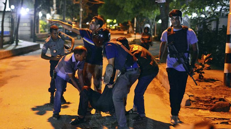 Islamic State has claimed responsibility for an attack on a restaurant in Dhaka's diplomatic quarter