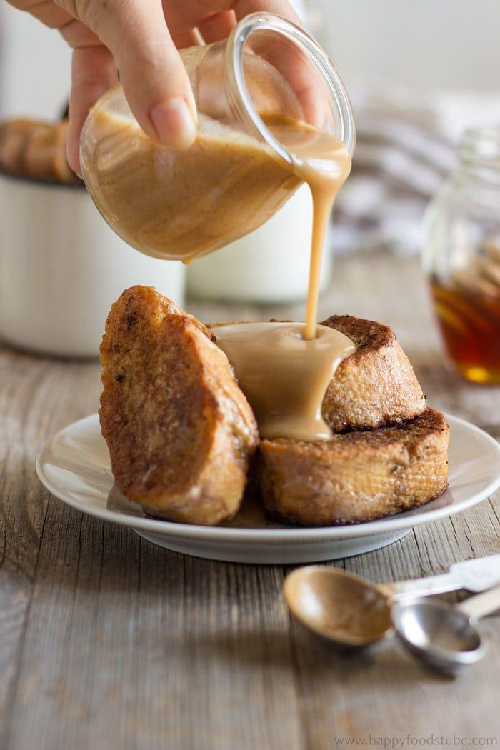 """<p>Gingerbread isn't just for Christmas. Blogger Julia calls the cinnamon honey sauce """"mouthwatering"""" and that it brings the dish """"to whole new level.""""</p><p><strong>Get the recipe at <a href=""""https://www.happyfoodstube.com/gingerbread-french-toast-recipe/"""" rel=""""nofollow noopener"""" target=""""_blank"""" data-ylk=""""slk:Happy Foods Tube"""" class=""""link rapid-noclick-resp"""">Happy Foods Tube</a>.</strong> </p>"""