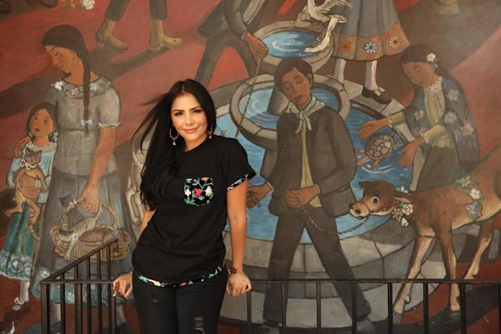 """Susie Plascencia, a public relations social-media marketer, discovered that La Chingona cannabis' bio had been fabricated and the company was owned by mostly non-Latino men. <span class=""""copyright"""">(Genaro Molina / Los Angeles Times)</span>"""