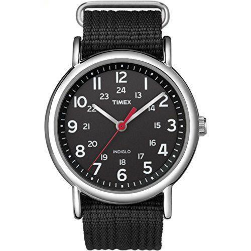 """<p><strong>Timex</strong></p><p>amazon.com</p><p><strong>$34.76</strong></p><p><a href=""""https://www.amazon.com/dp/B004VR9GCQ?tag=syn-yahoo-20&ascsubtag=%5Bartid%7C10055.g.29645332%5Bsrc%7Cyahoo-us"""" rel=""""nofollow noopener"""" target=""""_blank"""" data-ylk=""""slk:Shop Now"""" class=""""link rapid-noclick-resp"""">Shop Now</a></p><p>Getting his first watch is like a rite of passage. (Bonus: he'll finally be able to <strong>check the time without looking at his phone.)</strong> Available in a variety of different colored straps, it's a great basic option for him to wear every day.</p>"""