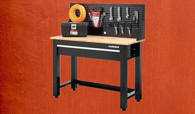 Place this workbench in a garage or basement. (Photo: Home Depot)