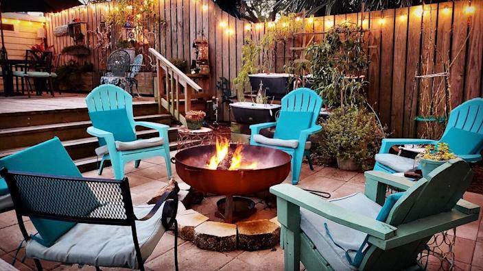 """$575, S&S Fire Pits. <a href=""""https://ssfirepits.com/product/30-inch-hemisphere-decorative-fire-pit/"""" rel=""""nofollow noopener"""" target=""""_blank"""" data-ylk=""""slk:Get it now!"""" class=""""link rapid-noclick-resp"""">Get it now!</a>"""