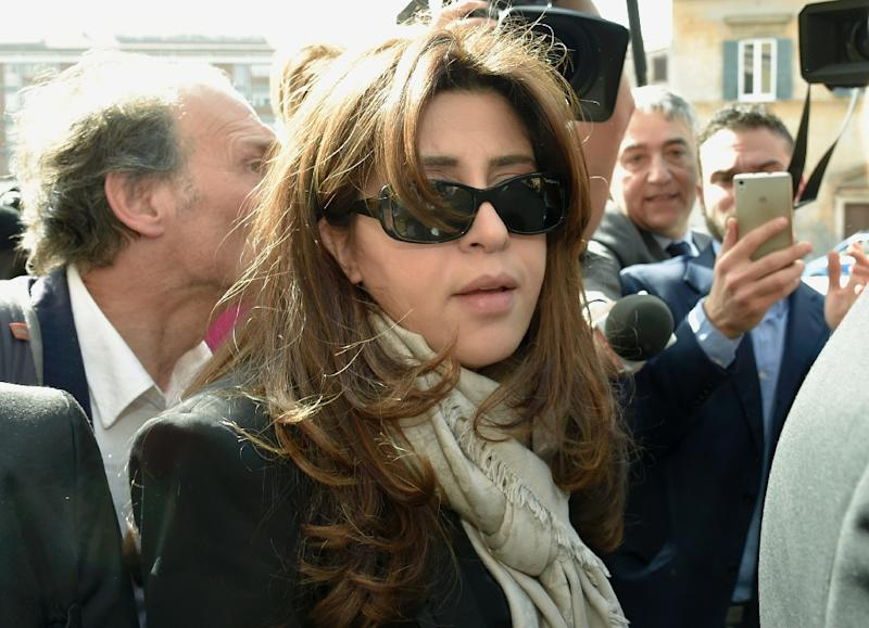 "Francesca Chaouqui, an Italian PR consultant accused of leaking classified documents to journalists, arrives on April 6, 2016 at the Vatican, for a hearing of the ""Vatileaks"" trial"