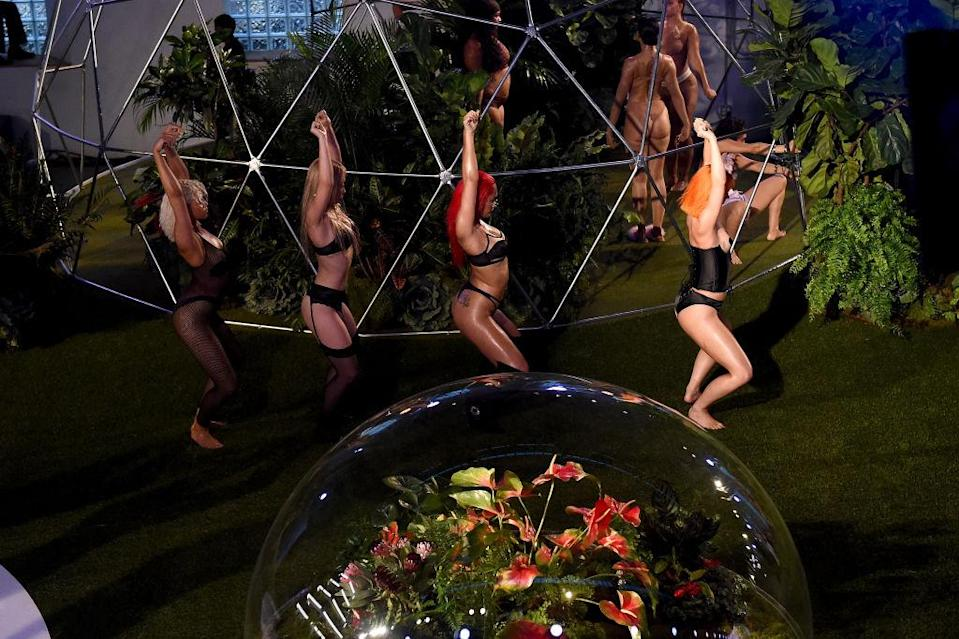 Models dance down the runway for the Savage X Fenty Fall/Winter 2018 fashion show during NYFW at the Brooklyn Navy Yard on Sept. 12, 2018, in Brooklyn, N.Y. (Photo: Getty Images)