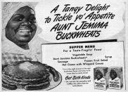 A 1930's print ad for Aunt Jemima branded products