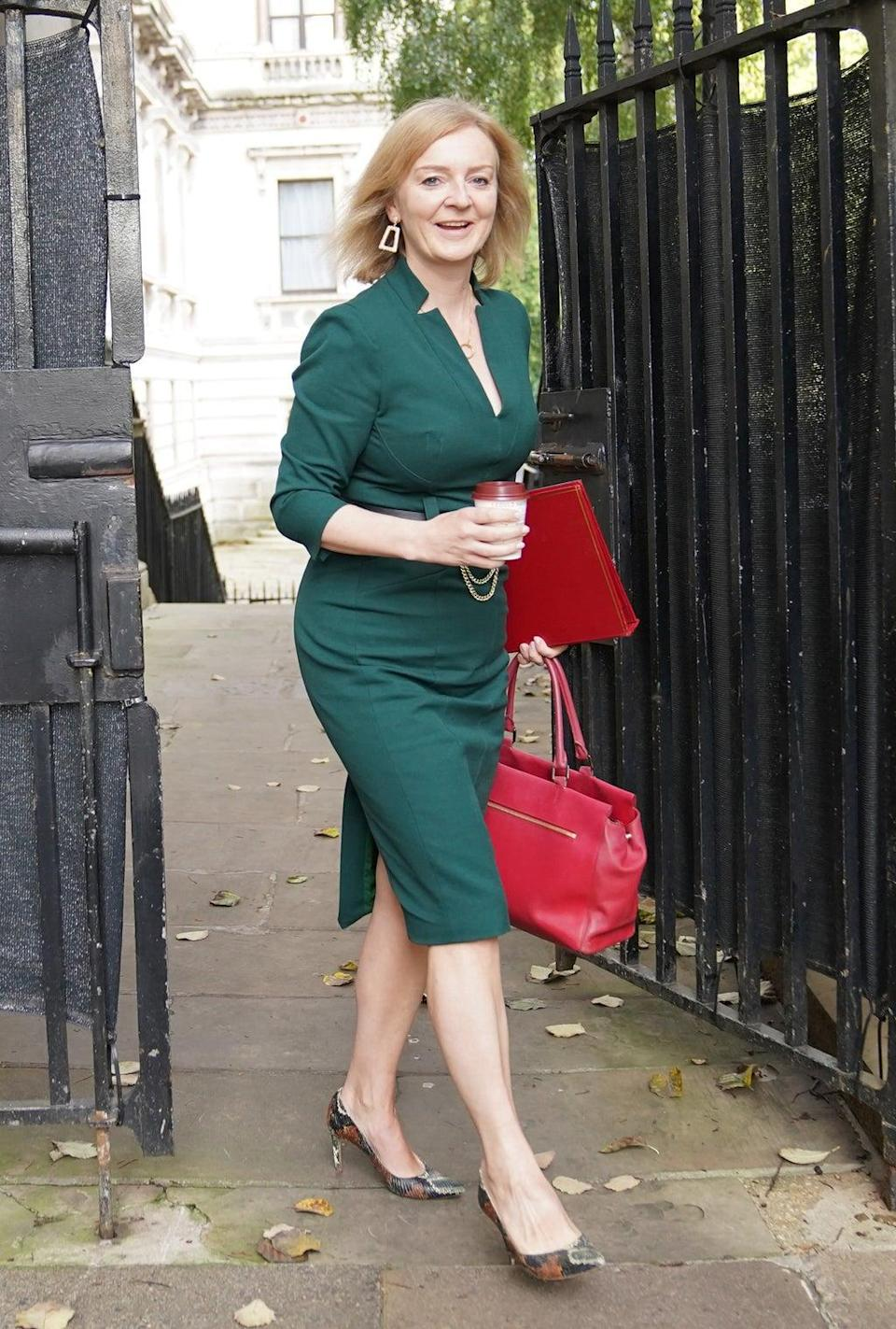Newly appointed Foreign Secretary Liz Truss arrives in Downing Street for the first Cabinet meeting after the reshuffle (Stefan Rousseau/PA) (PA Wire)