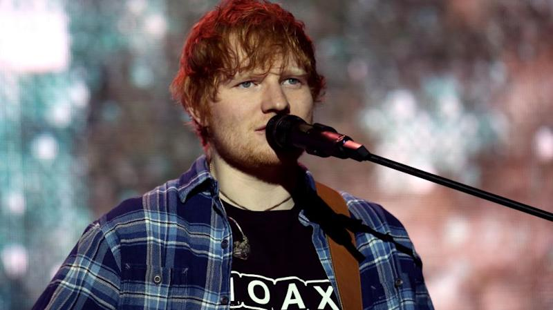 Ed Sheeran, performing here in Germany in December 2017, has been hit with a plagiarism lawsuit from two Australian songwriters. Source: Getty