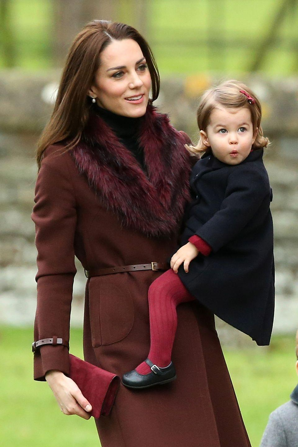 <p>The Duchess of Cambridge carries a curious Princess Charlotte (looking utterly chic while doing so).</p>
