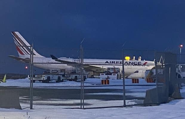 An Air France flight travelling from Paris to St. Maarten was diverted to St. John's Tuesday evening after a medical emergency onboard. (Heather Gillis/CBC - image credit)