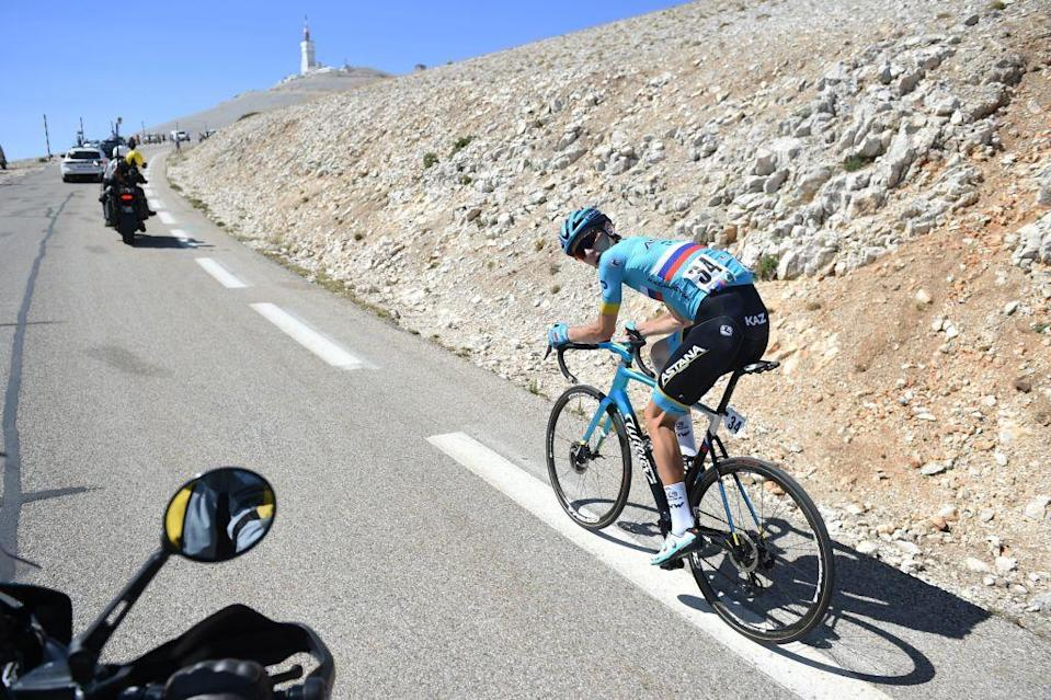 Russias Aleksandr Vlasov of Team Astana rides during the Mont Ventoux Denivele Challenge on August 6 2020 at the Mont Ventoux southern France  Mont Ventoux Denivele Challenge is a 182 kms one day race from VaisonLaRomaine to Mont Ventoux with nearly 4000 meters of ascending elevation Photo by Sylvain THOMAS  AFP Photo by SYLVAIN THOMASAFP via Getty Images