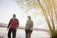"""In 2018, after American College of Cardiology researchers had looked at the <a href=""""https://www.acc.org/About-ACC/Press-Releases/2018/02/27/11/53/Regular-Walking-May-Protect-Against-Heart-Failure-Post-Menopause"""" rel=""""nofollow noopener"""" target=""""_blank"""" data-ylk=""""slk:walking habits"""" class=""""link rapid-noclick-resp"""">walking habits</a> of 89,000 post-menopausal women over the course of 10 years, they found that when it comes to walking, more is better. The more often, longer, and faster the women walked, the lower their <a href=""""https://bestlifeonline.com/unhealthy-heart-signs/?utm_source=yahoo-news&utm_medium=feed&utm_campaign=yahoo-feed"""" rel=""""nofollow noopener"""" target=""""_blank"""" data-ylk=""""slk:risk for heart failure"""" class=""""link rapid-noclick-resp"""">risk for heart failure</a>. Each factor was independently associated with a lower risk, but the biggest benefits were from those who combined all three, walking briskly for at least 40 minutes two or three times a week."""