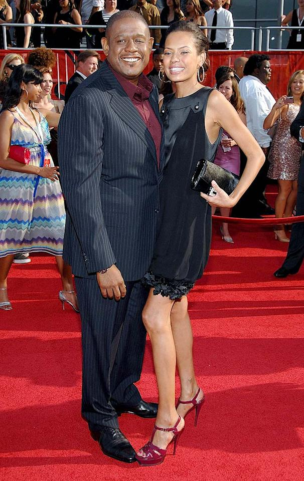 "Forest Whitaker and his wife Keisha made a striking couple on the red carpet in their color-coordinated ensembles. John Shearer/<a href=""http://www.wireimage.com"" target=""new"">WireImage.com</a> - July 16, 2008"
