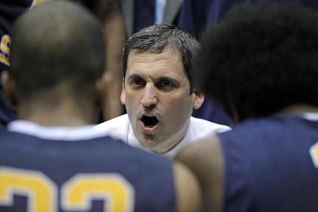 MOREHEAD, KY - JANUARY 18: Steve Prohm the head coach of the Murray State Racers gives instructions to his team during the OVC game against the Morehead State Eagles at Johnson Arena on January 18, 2012 in Morehead, Kentucky. (Photo by Andy Lyons/Getty Images)