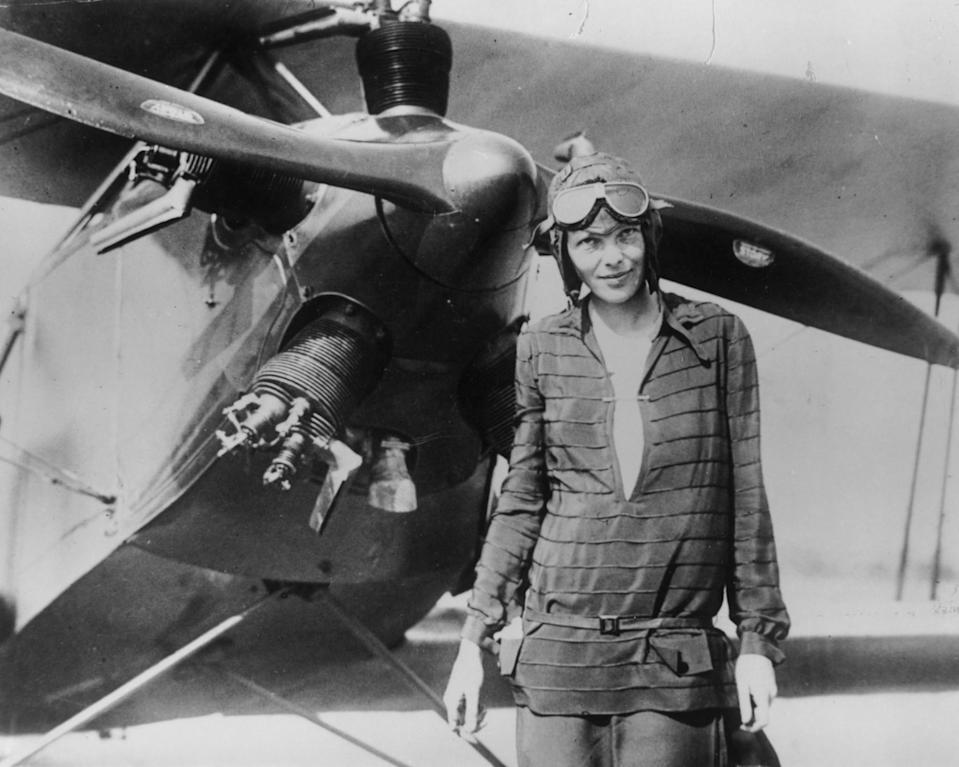 <p>Amelia Earhart was the first female pilot to fly across the Atlantic Ocean. She earned her pilot's license in 1923 – only the 16th woman to do so – and made several notable voyages including being the first person to fly over the Atlantic and Pacific. She was a fierce advocator of women's aviation rights, becoming the first president of an organisation doing just that in 1930. In 1937, she mysteriously disappeared while flying and was legally declared dead in 1939. <i>[Photo: Getty]</i> </p>