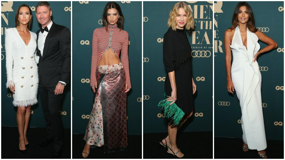 <p>Just days after she was pictured on a Sydney beach in a teeny-tiny black swimsuit, Emily Ratajkowski has taken to the red carpet at the GQ Men of The Year Awards in Sydney. Take a look at what other homegrown celebs joined the star as she showed off her abs. Photo: Getty Images </p>