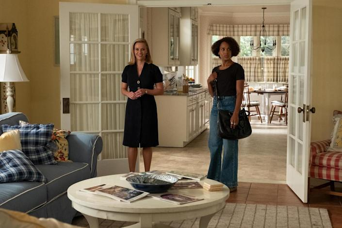 "Reese Witherspoon, left, and Kerry Washington in ""Little Fires Everywhere."" <span class=""copyright"">(Hulu)</span>"