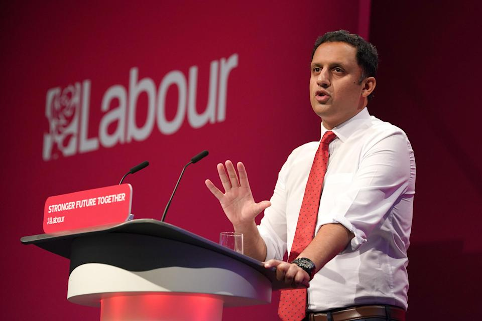 Scottish Labour Leader Anas Sarwar said he had had difficulties getting a vaccine certificate to attend Labour's Brighton conference (Gareth Fuller/PA)