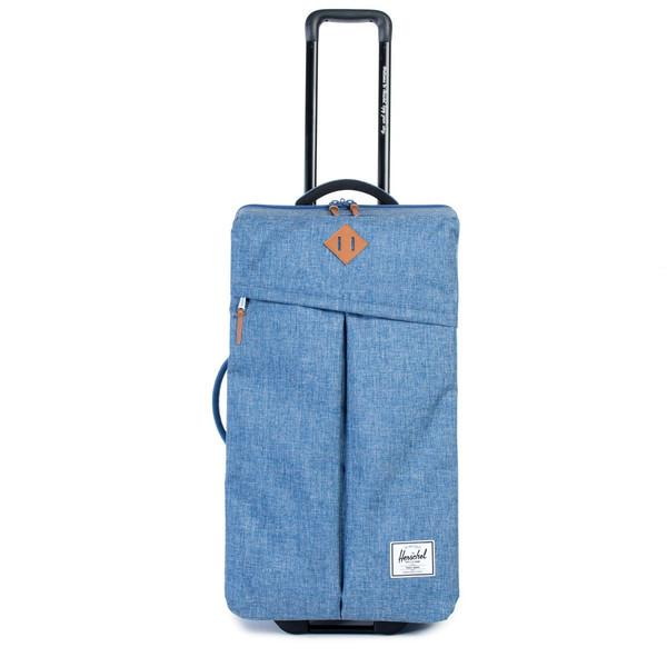 "<p>Have the coolest case out of all your friends with this awesome Herschel number.<i><a href=""http://shop.herschelsupply.com/collections/travel/products/parcel-luggage-limoges-crosshatch""> [Herschel, £170]</a></i></p>"