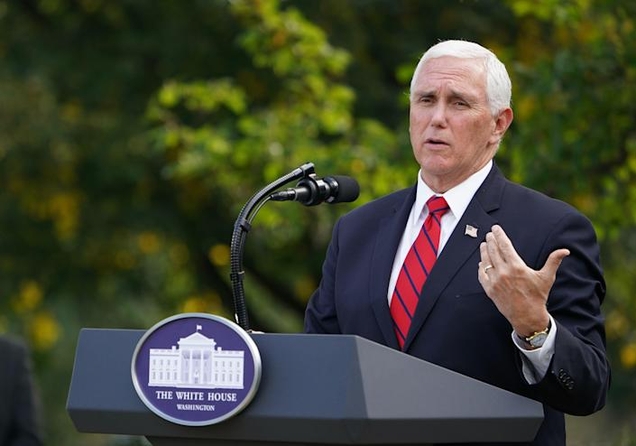 Mike Pence at the White House on Monday. (Mandel Ngan/AFP via Getty Images)