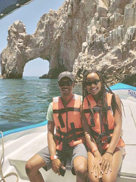 DJ and Dannie Vann take their first international trip to San Jose del Cabo, Mexico, in 2018 to celebrate their progress of paying off debt and DJ's 30th birthday. (ABC Photo Illustration /  Courtesy DJ and Dannie Vann)