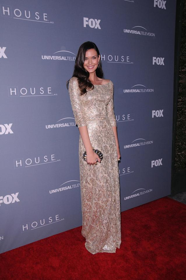 "Odette Annable arrives at the ""<a target=""_blank"" href=""http://tv.yahoo.com/house/show/36106"">House</a>"" Series Finale Wrap Party on Friday, April 20, 2012 at Cicada in downtown Los Angeles, California."