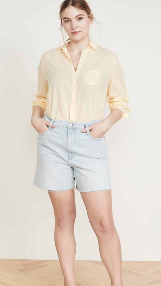 "<p>Get these <a href=""https://www.popsugar.com/buy/FRAME-Le-Tour-Raw-Edge-Shorts-553187?p_name=FRAME%20Le%20Tour%20Raw%20Edge%20Shorts&retailer=shopbop.com&pid=553187&price=185&evar1=fab%3Aus&evar9=47270633&evar98=https%3A%2F%2Fwww.popsugar.com%2Ffashion%2Fphoto-gallery%2F47270633%2Fimage%2F47270809%2FFRAME-Le-Tour-Raw-Edge-Shorts&list1=shopping%2Cshopbop%2Cspring%2Cspring%20fashion%2Cfashion%20shopping%2Ccurvy%20fashion&prop13=api&pdata=1"" rel=""nofollow"" data-shoppable-link=""1"" target=""_blank"" class=""ga-track"" data-ga-category=""Related"" data-ga-label=""https://www.shopbop.com/tour-short-raw-edge-frame/vp/v=1/1546882884.htm?folderID=61738&amp;fm=other-shopbysize-viewall&amp;os=false&amp;colorId=17B3D&amp;ref=SB_PLP_NB_21"" data-ga-action=""In-Line Links"">FRAME Le Tour Raw Edge Shorts</a> ($185) for your next vacation.</p>"