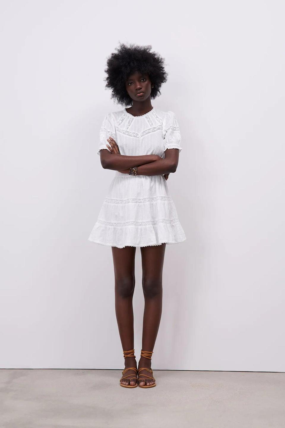 <p>We love the look of this <span>Zara Combination Short Dress</span> ($50), and plan to wear it all summer.</p>