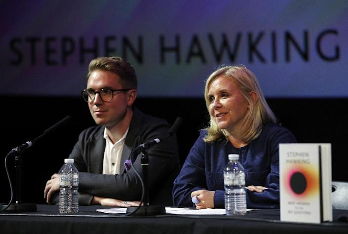Hawking's daughter Lucy said the scientist was regularly asked a set of questions and the book was an attempt to answer them in the clearest way (AFP Photo/Adrian DENNIS)