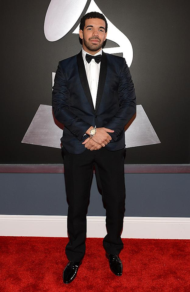 LOS ANGELES, CA - FEBRUARY 10:  Hip-hop artist Drake attends the 55th Annual GRAMMY Awards at STAPLES Center on February 10, 2013 in Los Angeles, California.  (Photo by Larry Busacca/WireImage)