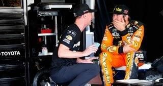 NASCAR.com's Jonathan Merryman catches up with No. 78 crew chief Cole Pearn and rear tire changer Lee Cunningham in Victory Lane at Sonoma.