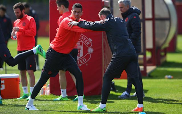 <span>Chris Smalling is among those available again after injury for United</span> <span>Credit: Getty images </span>