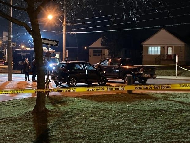 Toronto police are searching for suspects who fled the scene of a homicide Saturday night. (Mark Bochsler/CBC - image credit)