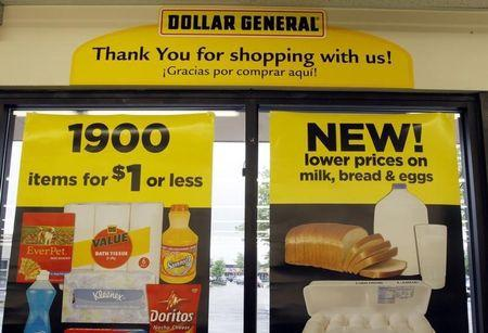A price sign at a Dollar General store in Arvada, Colorado