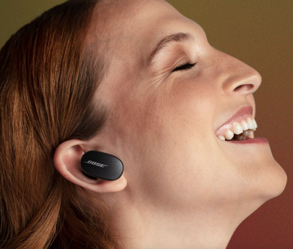 Bose QuietComfort Earbuds in Triple Black (Photo via Bose)