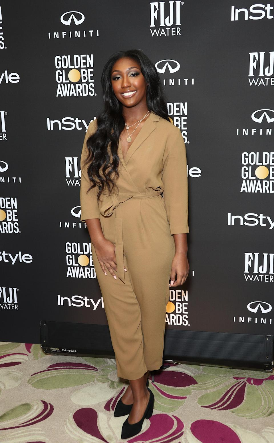 Isan Elba at the Nov. 14 event announcing that she is the 2019 Golden Globe ambassador, following in the footsteps of the Rock's eldest daughter, Simone Johnson. (Photo: Frederick M. Brown/Getty Images)