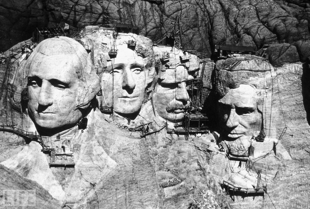 Borglum also wanted to include an enormous panel in the shape of the Louisiana Purchase that would include the Declaration of Independence, the Constitution, and several historically significant territorial acquisitions in American history. These plans were also scrapped due to shortage of funds. October 31 marks the 70th anniversary of Mount Rushmore's completion. Photo: MPI/Getty Images