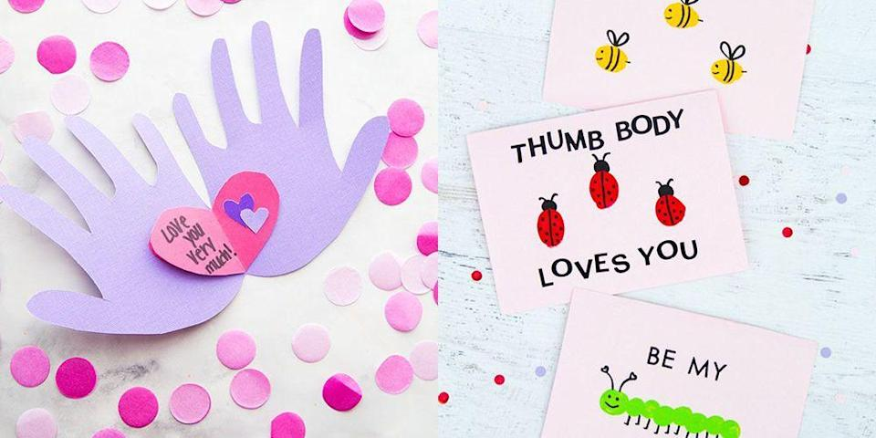 """<p>Valentine's Day is all about expressing love. And what better way to do that than through a homemade<a href=""""https://www.goodhousekeeping.com/holidays/valentines-day-ideas/g2020/easy-valentines-day-craft-ideas/"""" rel=""""nofollow noopener"""" target=""""_blank"""" data-ylk=""""slk:craft project"""" class=""""link rapid-noclick-resp""""> craft project</a>? We rounded up an array of <strong>Valentine's Day handprint crafts</strong> that turn prints or tracings into precious keepsakes that you'll want to hang onto forever. </p><p>And it's not just hands: Turn little feet, toes, and fingertips into personal crafts like cards, <a href=""""https://www.goodhousekeeping.com/holidays/valentines-day-ideas/g30174656/valentines-day-decor-ideas/"""" rel=""""nofollow noopener"""" target=""""_blank"""" data-ylk=""""slk:decorations"""" class=""""link rapid-noclick-resp"""">decorations</a>, gifts, and more. Most of these projects are budget-friendly and a snap to make (even with youngest of kids), and use simple materials you probably already have around the house. So gather your supplies and try your, ahem, <em>hand</em> at these Valentine's Day handprint, fingerprint, and footprint craft ideas. </p>"""