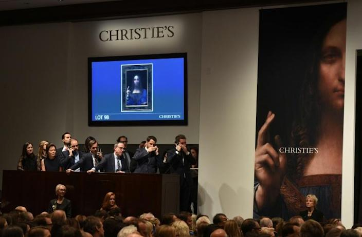 A Christie's auction room during a November 2017 sale