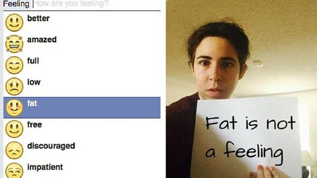 Petition Wants 'Feeling Fat' Removed From Facebook